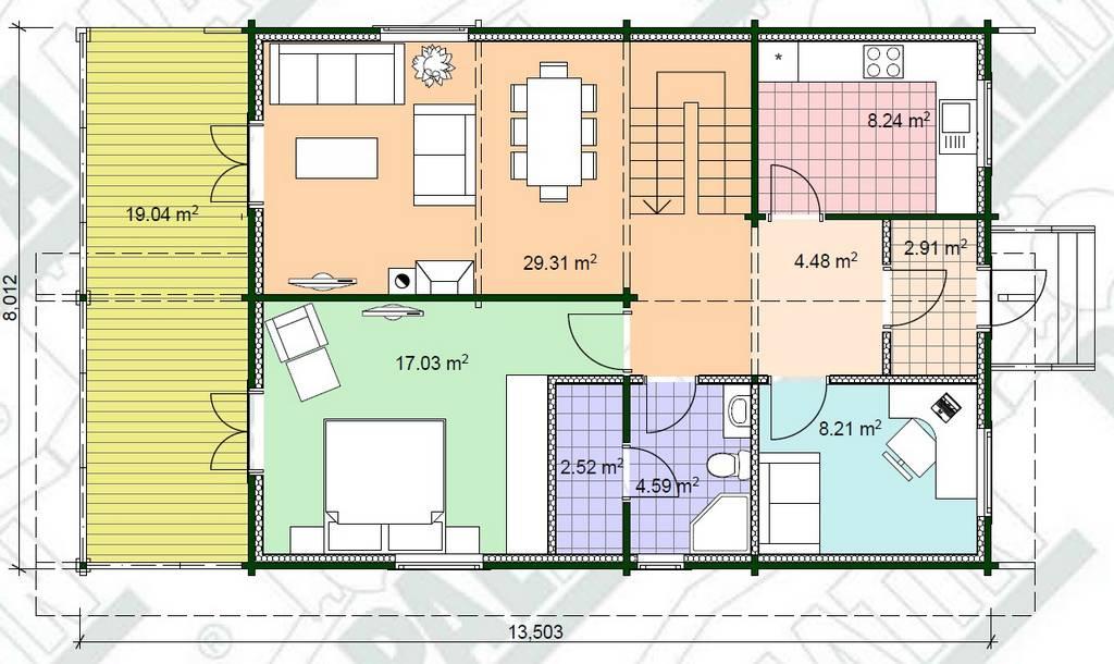 Holz-Blockhaus-Modell-Aare-Grundrissplan-EG
