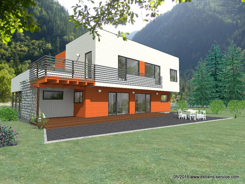 Modernes blockhaus kirss foto 1