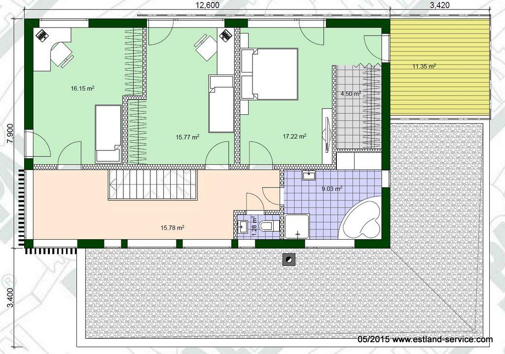 modernes Blockhaus Kirss OG