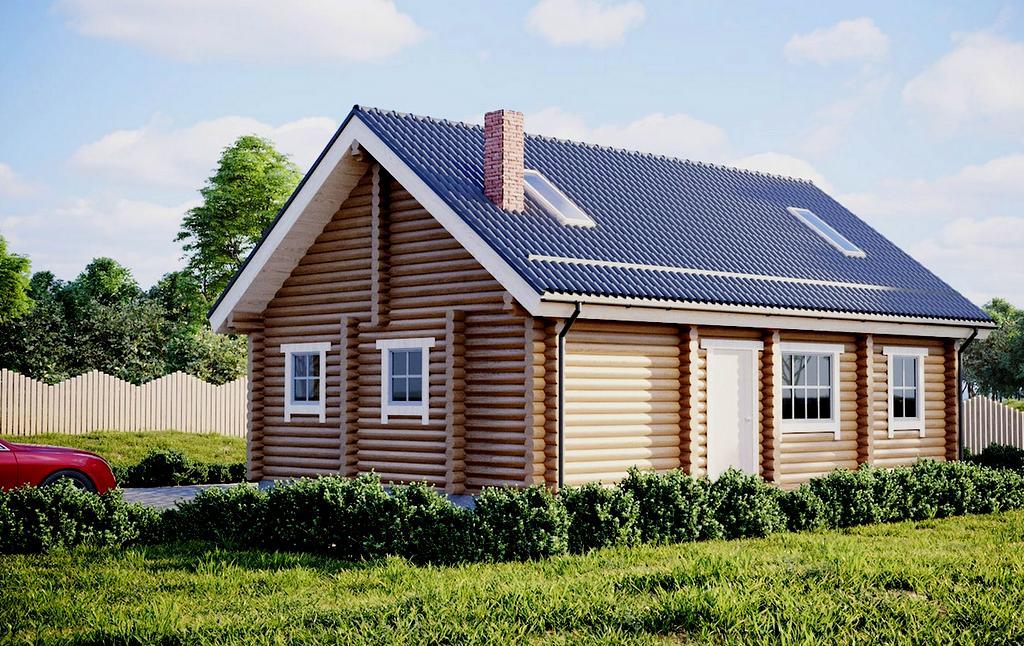estnisches Blockhaus Modell Merike