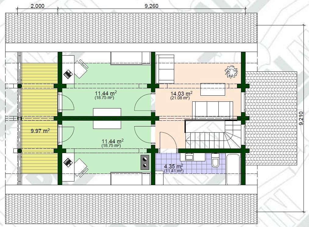 Holz Landhaus Milla Grundrissplan OG