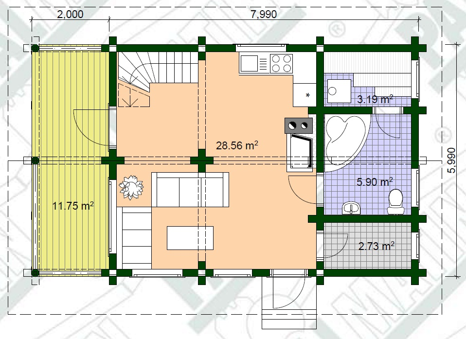 Blockhaus Bausatz Peeter