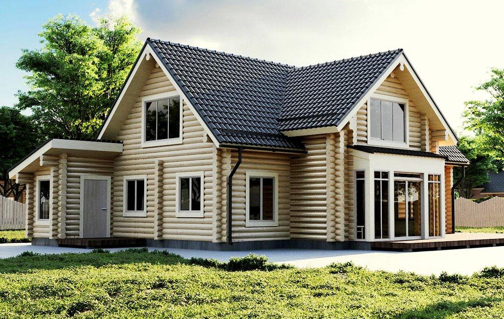 2 stöckigesEstland Blockhaus Modell Rebeka 168,7 qm