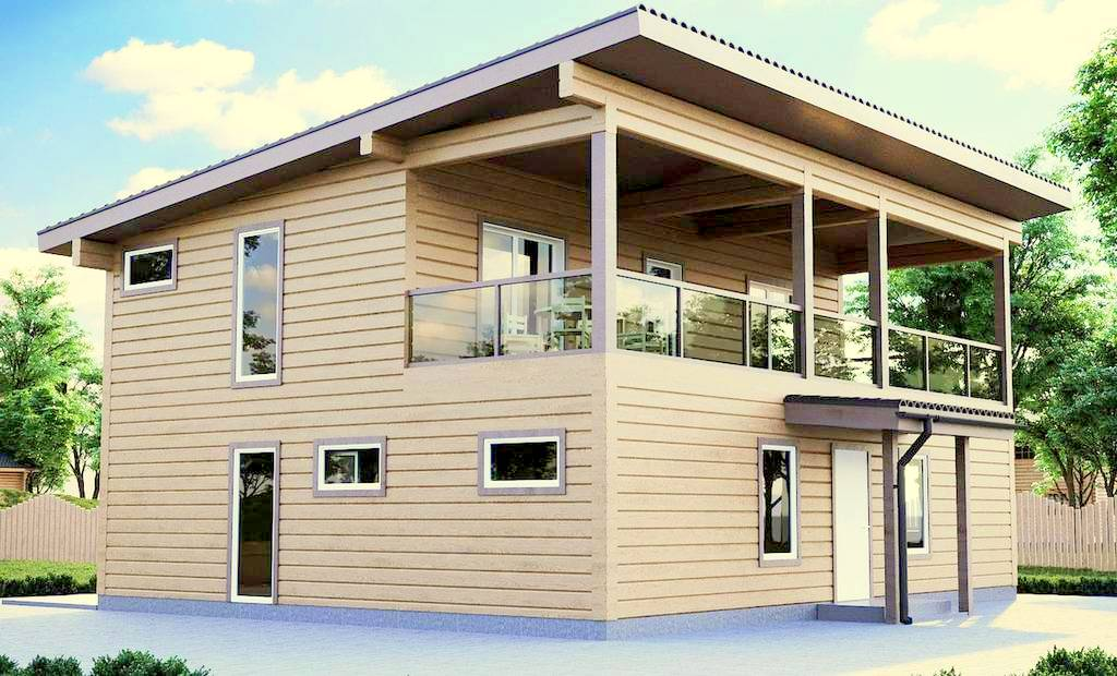 Estland Holzhaus Modell Sandra 151,6 qm