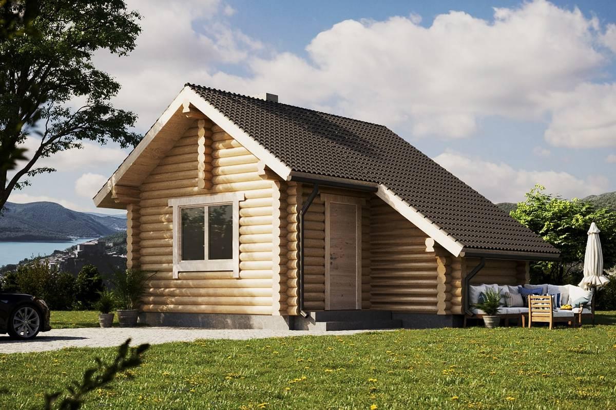 estnische Blockhaus Sauna Modell Aleks