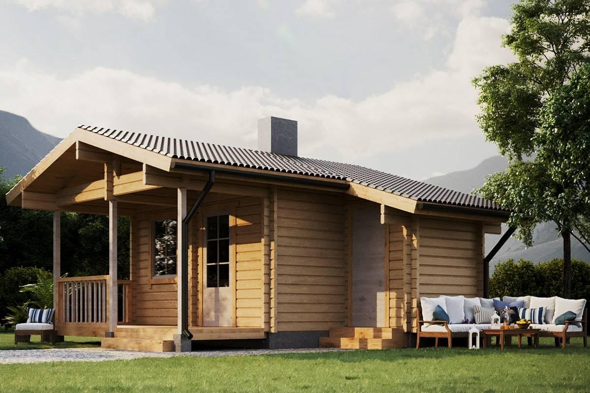 estnische Blockhaus Sauna ModellSiim