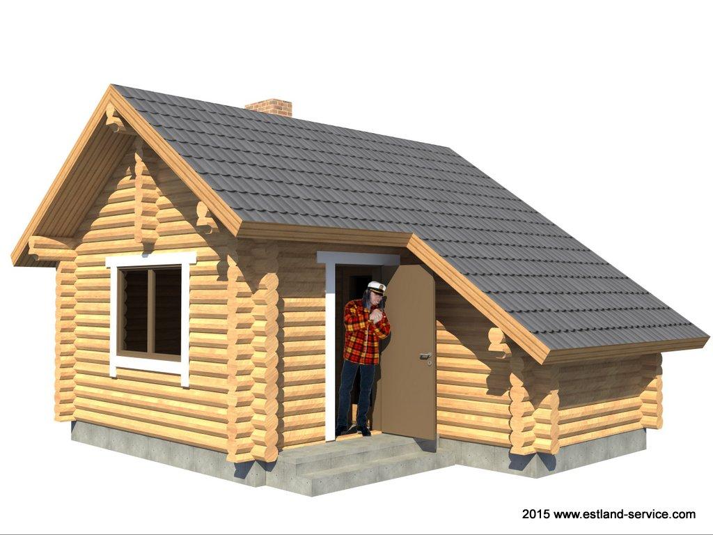 Blockhaus Sauna Aleks 1
