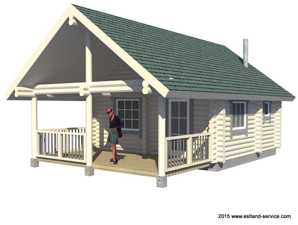 Blockhaus Sauna Modell Tiit 1