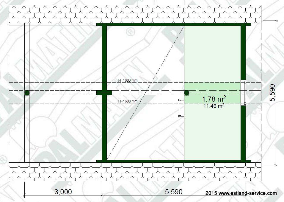 Blockhaus Sauna Modell Tiit OG