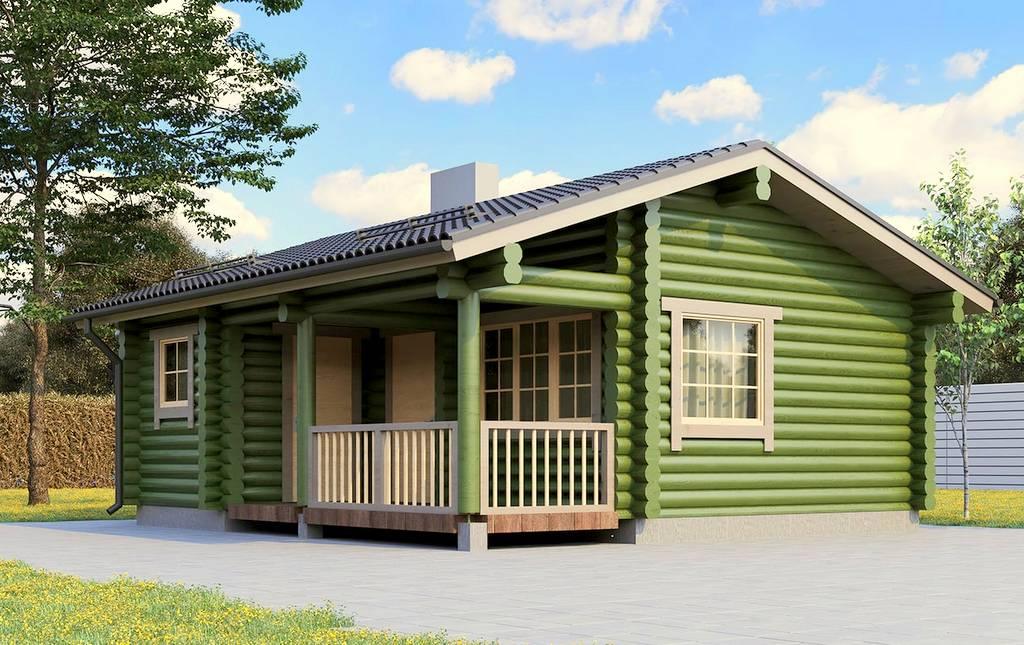Sommer-Blockhaus Sauna Pille Aussenansicht