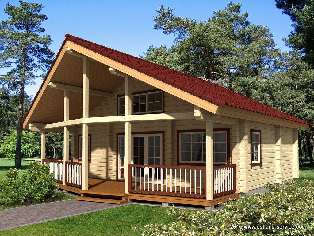 estnisches Blockhaus Modell Sinilill
