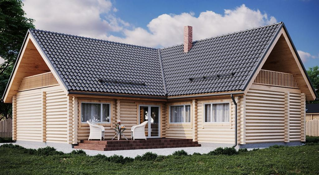 zweistöckiges Blockhaus Modell Sven 217,8 qm