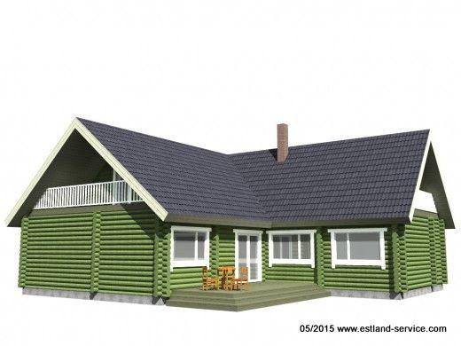 Blockhaus Modell Sven 1