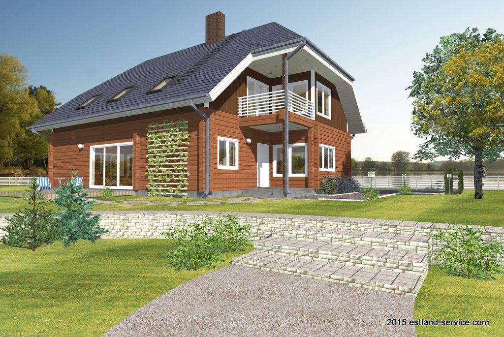 zweistöckiges Blockhaus Modell Tamme 212 qm