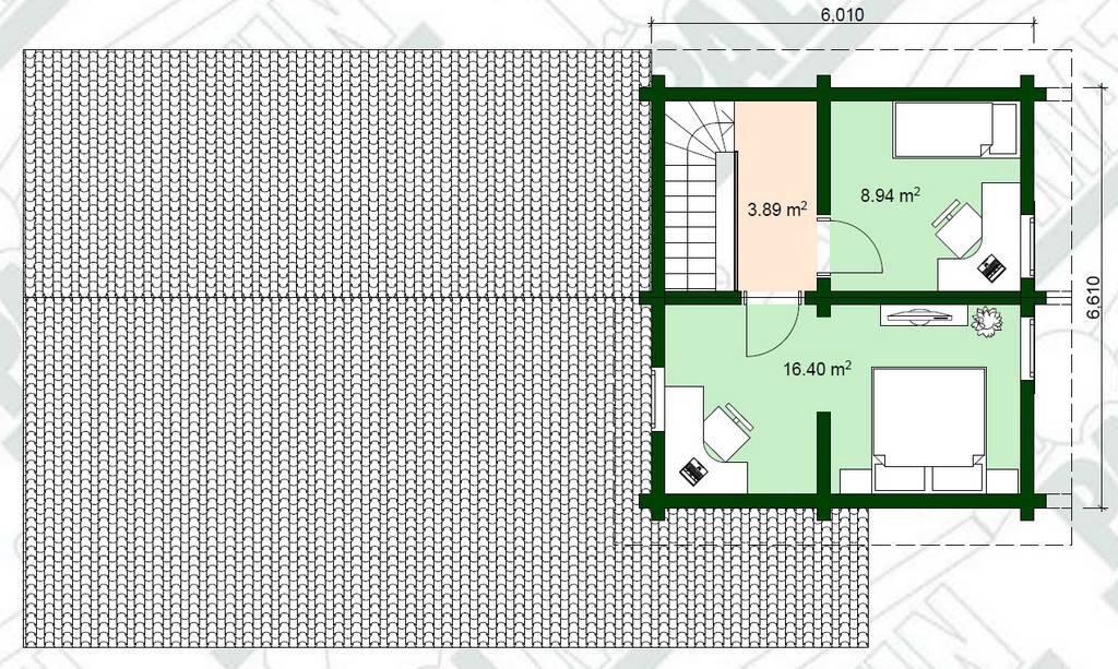 Estnisches Blockhaus Urmas Grundriss Plan OG