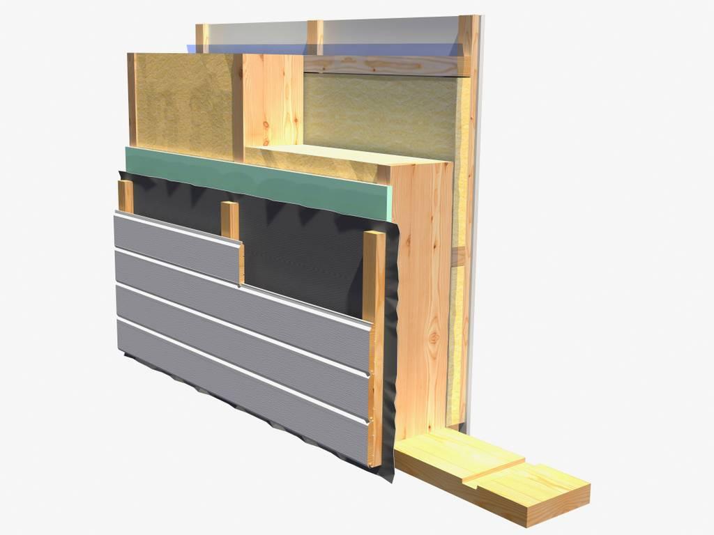 Element-/Fertighaus Bauteile - Aussenwandelemente-mit-Holzfassade