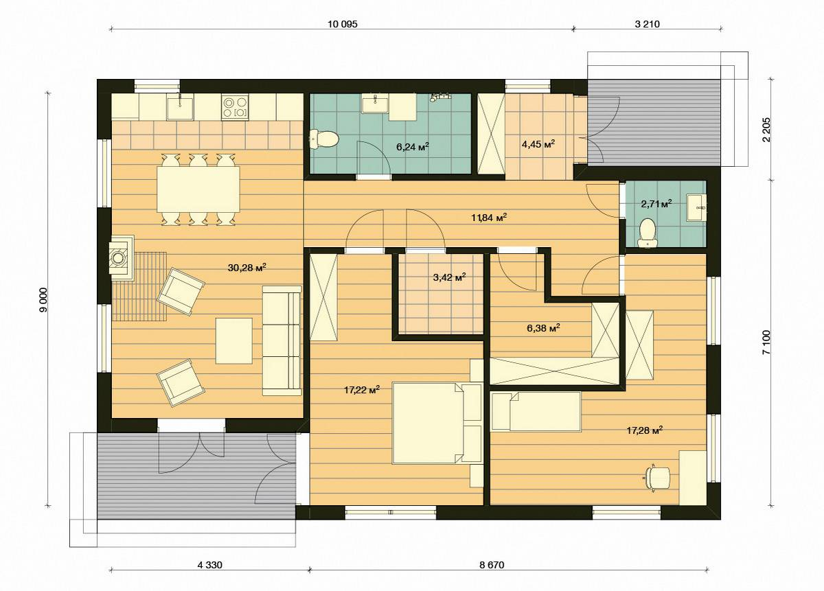 Element-Haus France 2  Grundriss