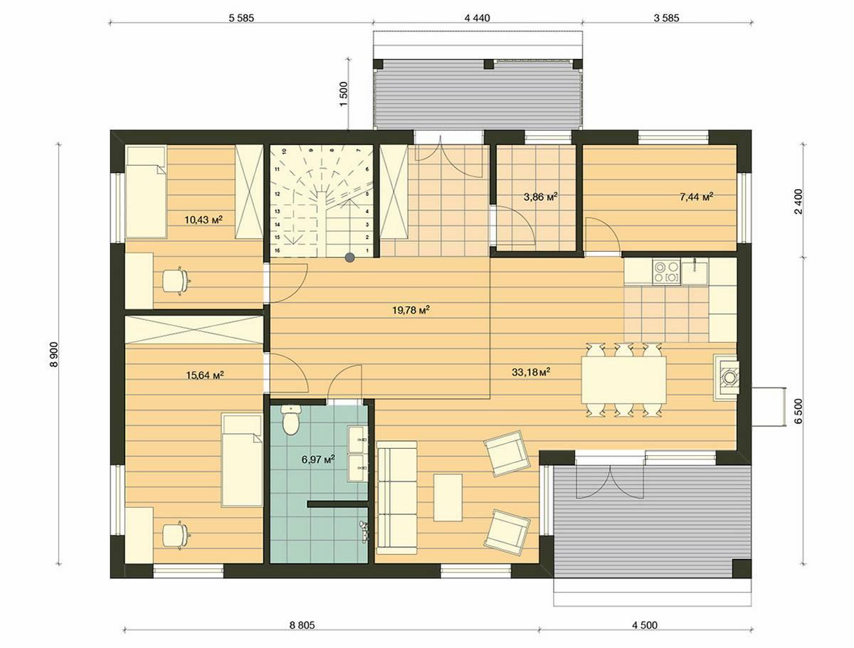 Element-Haus France 4 Grundriss EG