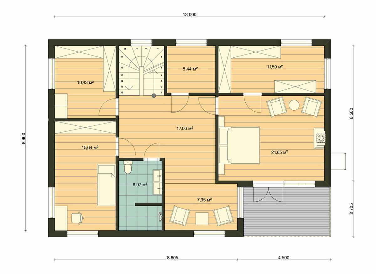 Element-Haus France 4 Grundriss OG