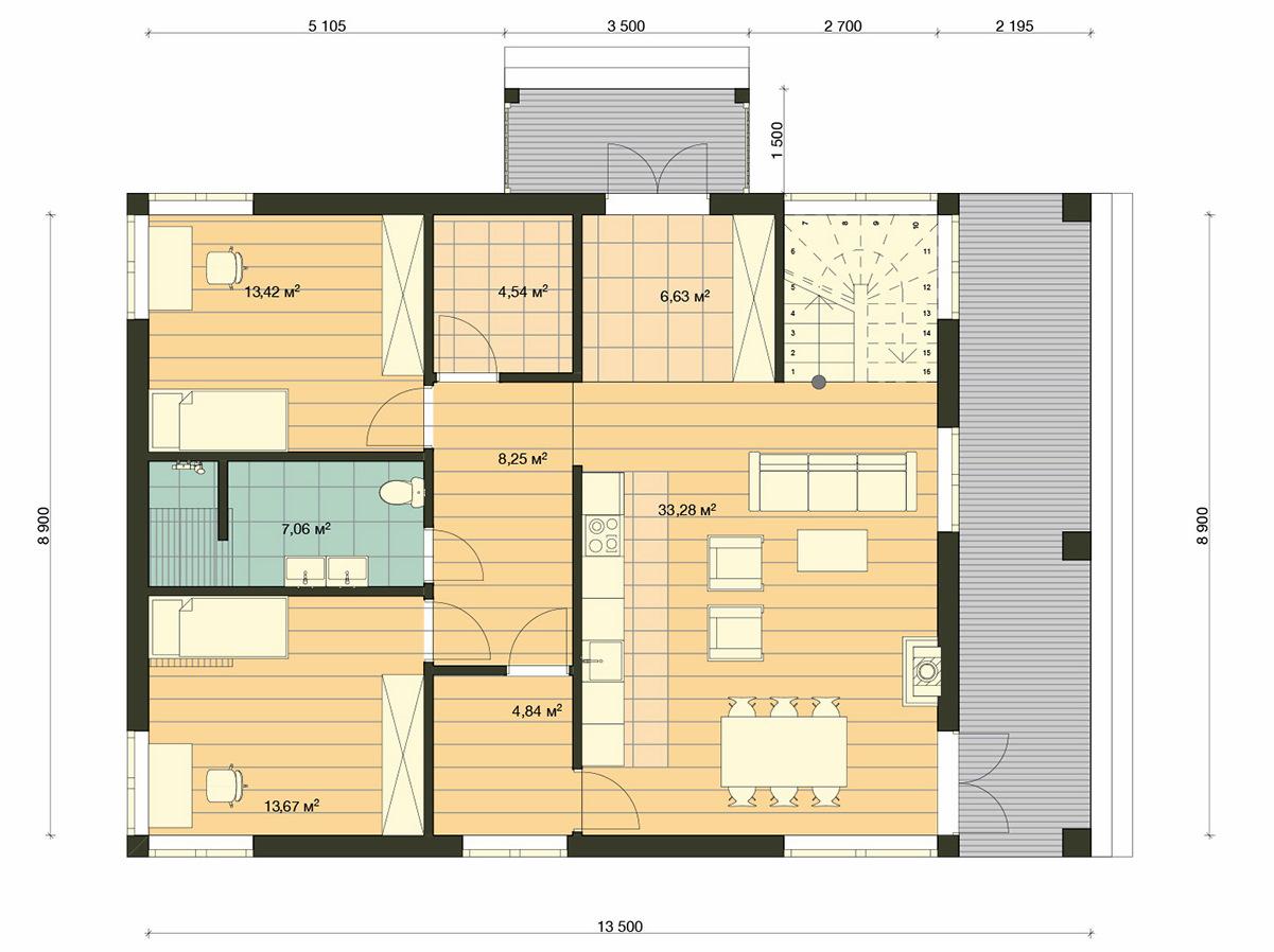 Element Haus Modell Germany 4 Grundriss EG