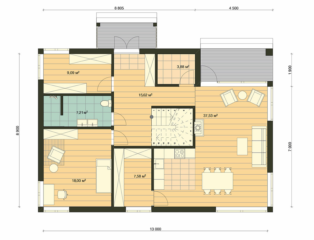 Element Haus Modell Germany 3 Grundriss EG