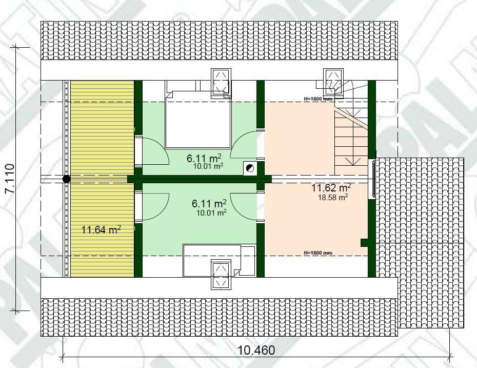 Ferien Blockhaus Riho Grundrissplan OG