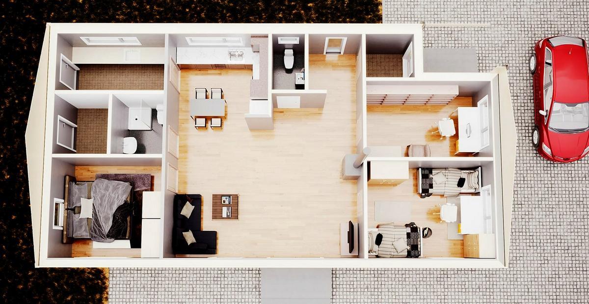 Element-Haus ECO 1 3d Ansicht