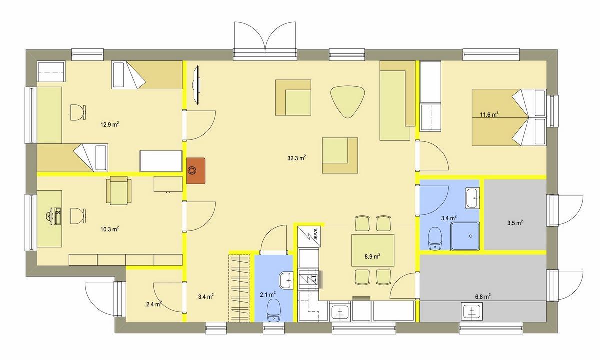 Element-Haus ECO 1 Grundriss