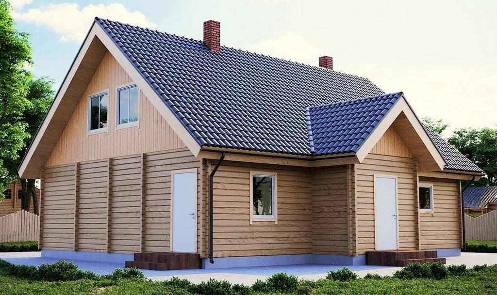 Zweistöckiges Holzhaus Modell Priit