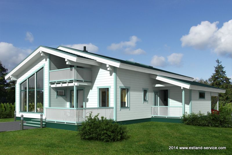 Holzhaus Rondo 1