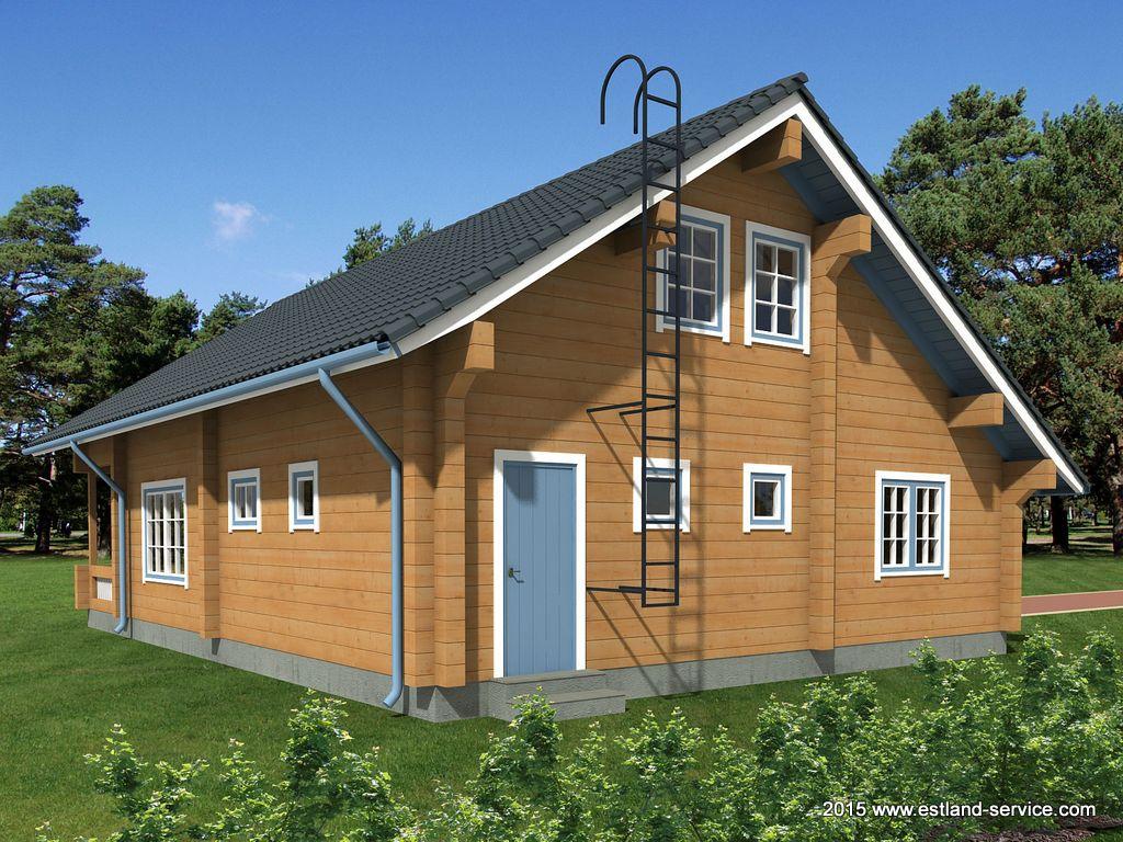 estnisches Landhaus Sirel Rückansicht
