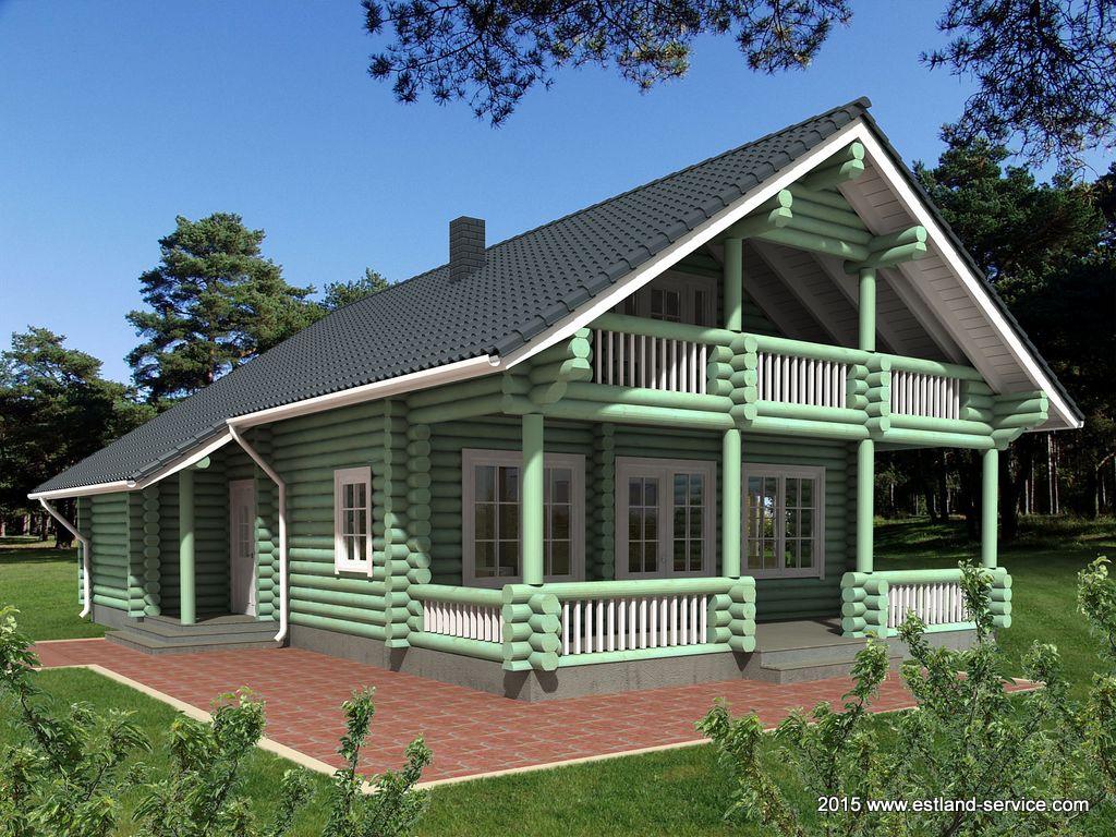 estnisches Holz- Landhaus Unistus 1