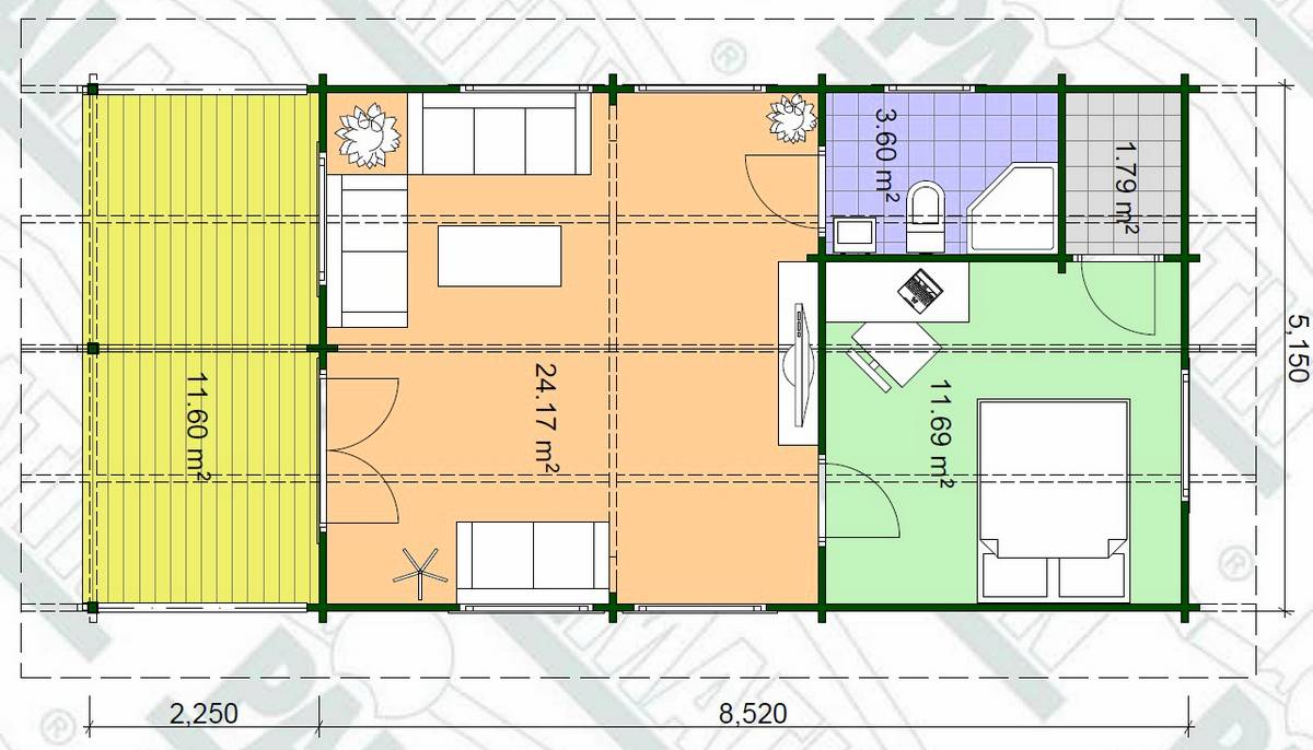 Gäste- oder Campinghaus Lars 2 Grundriss