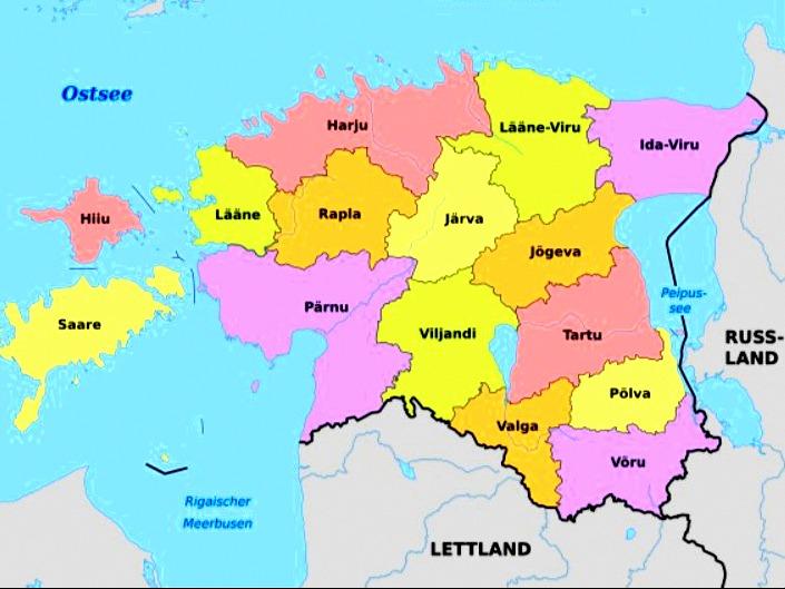 Karte Immobilienangebote in Süd Estland